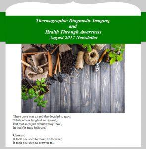 Newsletter TDI and Health Through Awareness - August 2017 Newsletter