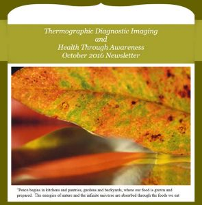 Newsletter TDI and Health Through Awareness - October 2016