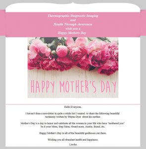 Happy Mother's Day TDI & Health Through Awareness Newsletter